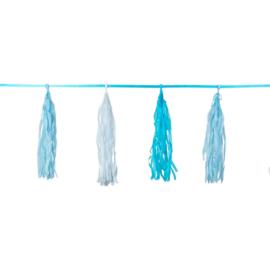 Blauwe Geboorteslinger Franje - 3 meter