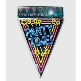 Vlaggenlijn Neon Party Time!