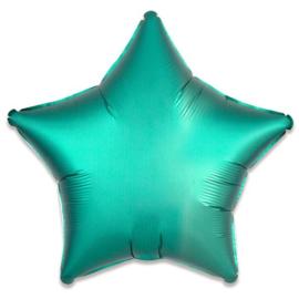 Folieballon ster satin jade - 43 cm
