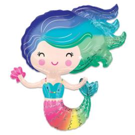Folieballon SuperShape Mermaid - 73 cm