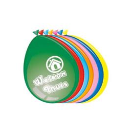 Ballonnen 'Welkom thuis' (Ø30cm, 8st)