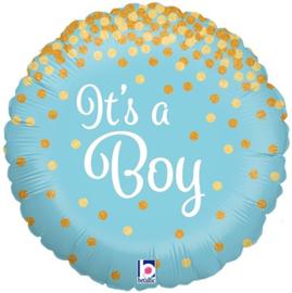 Folieballon Glitters It's a Boy - 45 cm