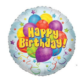 Folieballon Birthday Bunches - 46 cm