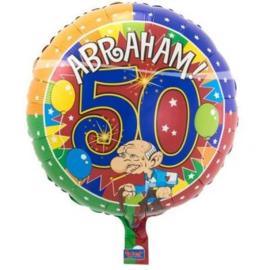 50 Jaar Abraham Knalfeest folieballon - 43 cm