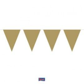 Gouden Mini Vlaggenlijn - 3 meter