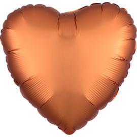Folieballon hart satin amber (43cm)