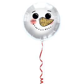 Folieballon Sneeuwpop - 45 cm