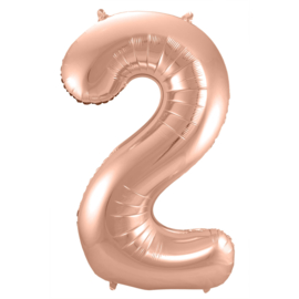 Cijfer 2 Rosé Goud - 86 cm