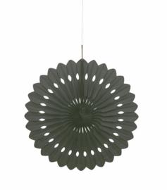 Papieren Honeycomb Waaier zwart - 40cm