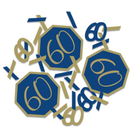 Confetti Navy & Gold '60' (14g)