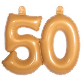 Opblaascijfer 50 Goud