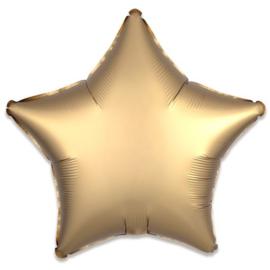 Folieballon ster satin goud (43cm)