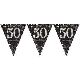 Vlaggenlijn 50 sparkling gold 4 meter