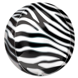Folieballon Orbz zebraprint - 41 cm