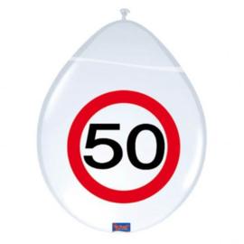 Latex Ballonnen 30 jaar 8 Stuks Verkeersbord