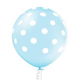 Pastel Blauw Polka Dots 60 cm