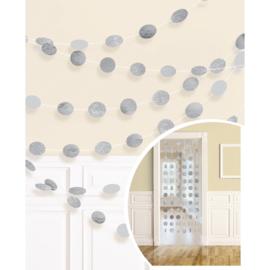 Zilveren Glitter Hangende Streng Decoraties