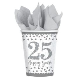 8 Bekers 25 jaar Getrouwd