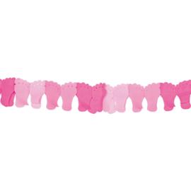 Geboorteslinger roze baby voetjes - 6 meter