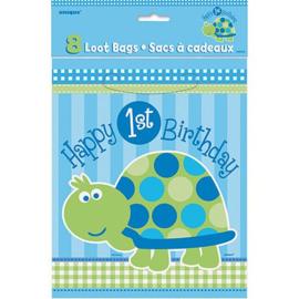 1e Verjaardag schildpad uitdeelzakjes