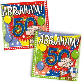 Servetten 50 Jaar Abraham Knalfeest - 20 stuks