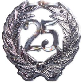 25 Jaar Deurbord Zilver 3D