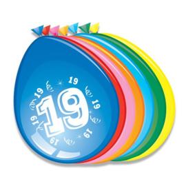 Latex Ballonnen 19 jaar 8 Stuks