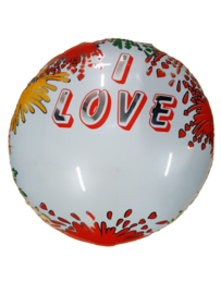 Folieballon I LOVE,  Naam of tekst zelf in te vullen