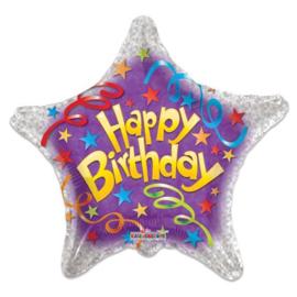 Folieballon Birthday Streamers - 46 cm