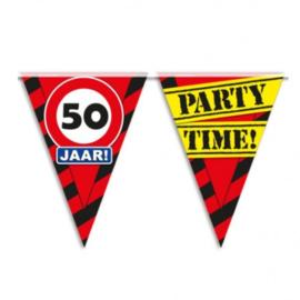 Vlaggenlijn Party 50 Jaar Verkeersbord