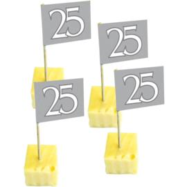 25 Jaar Zilveren Prikkers - 50 stuks