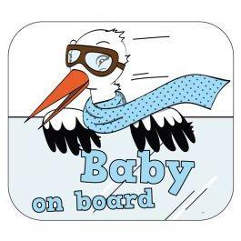 Raamsticker Baby on Board Jongen
