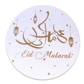 Raamsticker 'Eid Mubarak' (Ø46cm)
