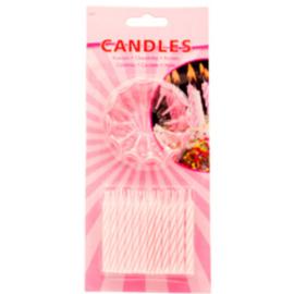 Roze Kaarsjes Set - 24 stuks