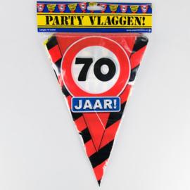 Vlaggenlijn Party 70 Jaar Verkeersbord