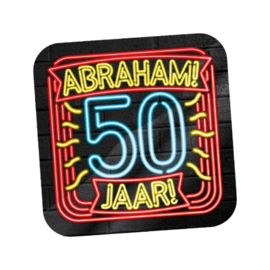 Huldeschild Neon 50 jaar Abraham
