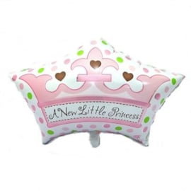 Folieballon Geboorte A New Little Princess 65 cm