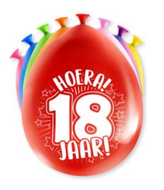 Party Ballonnen - 18 jaar