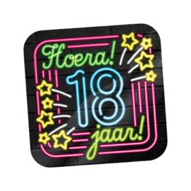 Huldeschild Neon 18 jaar