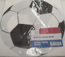 Voetbal Servetten 33x33cm 20 stuks