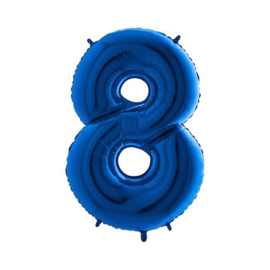 Cijfer 8 Blauw - 100 cm