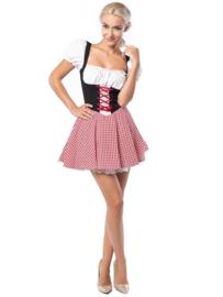 Oktoberfest Dirndl Eva Rood/Zwart