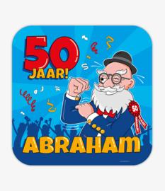 Huldeschild 50 Jaar Abraham Cartoon