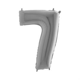 Cijfer 7 Zilver - 100 cm