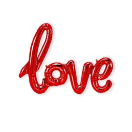 Foliescript 'Love' Rood
