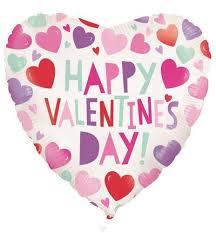 Folieballon Hart Happy Valentine's Day! - 45 cm