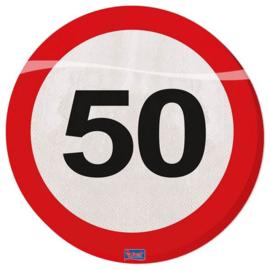 Servetten Verkeersbord 50