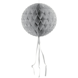 Honeycomb Bol Zilver - 30 cm