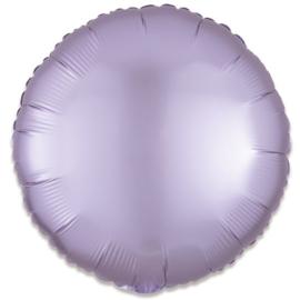Folieballon rond satin pastellila - 43 cm