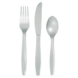 Bestek shimmering silver (24st)